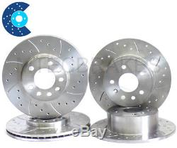 Renault Clio Cup Sport 172 182 Drilled Grooved Front & Rear Brake Discs
