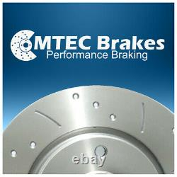 Renault Clio Cup Sport 172 182 Drilled Grooved MTEC Brake Discs Front 280mm