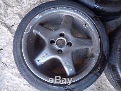 Renault Clio Sport 172 182 ph2 2000-2006 4x100 borbet alloy wheels + tyres 7.5J