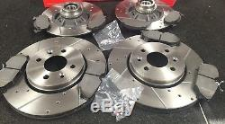 Renault Clio Sport 172 Brake Disc Cross Drilled Grooved Brembo Pads Front Rear