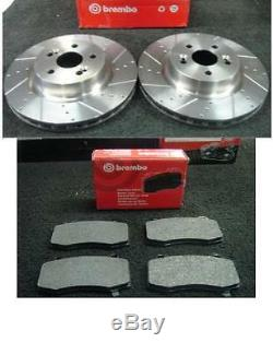 Renault Clio Sport Mk3 06 On Brembo Drilled Grooved Front Brake Discs Brake Pads