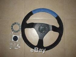 Renault clio sport 172 182 sport suede 330mm steering wheel, flat dish