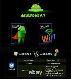 Single 1DIN 10.25in Car Stereo Radio WiFi FM MP5 Player Android 9.1 GPS SAT NAV