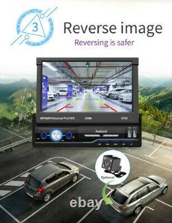 Single 1Din Android 8.1 7in Car Stereo MP5 Player GPS FM Radio WiFi Multimedia