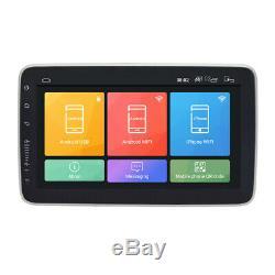 Single 1Din Rotatable Android 8.1 10.21080P Quad-core 1GB+16GB Car Stereo Radio