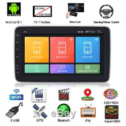 Touch Screen 2Din 10.1 Android 8.1 Car Radio Stereo GPS DAB 4G WiFi MLK 1+16G