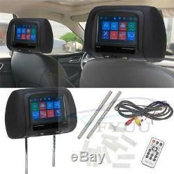UK 7 Touchscreen Car Headrest Monitor Back Seat MP5 Monitors with USB SD IR FM BT